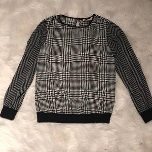 Michael Kors silky black and white blouse